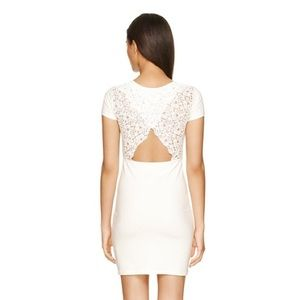 Talula white lace back dress